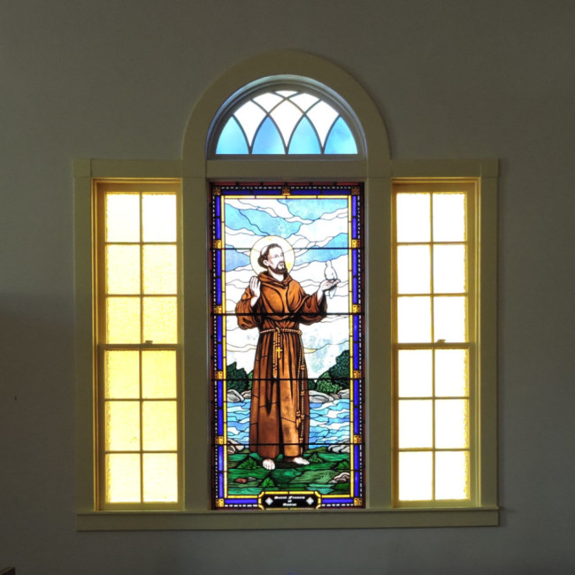 St Francis Stained Glass Window